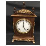 Ingraham Mantle Clock with Brass Trim