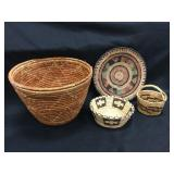 Papago Indian Baskets/Plate