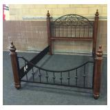 Ashley Furniture Iron and Wood Queen Bed