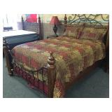 Bed Skirt, Comforter, Shams with Pillows
