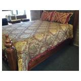 Bed Skirt, Shams with Pillows and Comforter