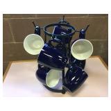 Kitchen Mug Holder and Mugs