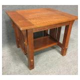Wood Accent Table with Butterfly Inserts