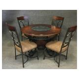 Wrought Iron Bistro Table w/ 4 Chairs