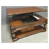 Lift Top Cocktail/Coffee Table with Side Drawers