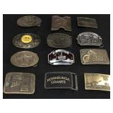 12  Collectible Belt Buckles