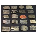 20 Vintage Advertising Collectible Buckels
