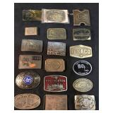 24 Vintage Collectible Advertising Buckels