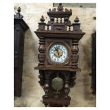 Highly Carved Open Well Vienna Wall Clock
