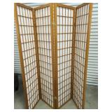 4 Panel Wood Folding Screen/Room Divider-Un-used