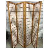 4 Panel Wood Screen/Wood Divider- Un-used