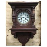 Newer Open Well Wood Wall Clock