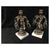 2 Vintage Churab Candle Stick Holders with