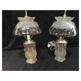 2 Crystal/Glass Table Lamps