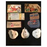 3 Vintage Sewing Kits, 2 Disneyland Ticket