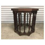 Vintage Wood Side Lamp/Side Table