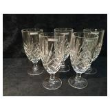 5 Crystal Goblets -Un-used