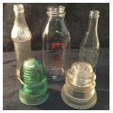 Vintage Chief Bottle & Dr. Pepper Bottle, 1 Milk