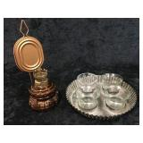 Misc 4 Candle Holder & Oil Lamp