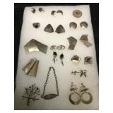 Misc Sterling Silver Jewelery in Case