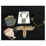 Vintage Beaded Bags & Jewelry