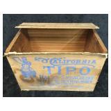 California Tipo Italian-Swiss Colony Wood Box