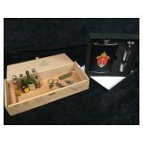 Misc Flask, Cigar Box, Mini Bottles & Razors