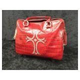 Red Raviani Rolling Luggage/ Laptop Bag