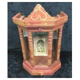 Jewelry Display Case w/ Drawer & Picture in Frame