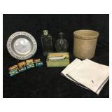Misc Glass, Plate, Pot, Napkins, Mini Boxes &