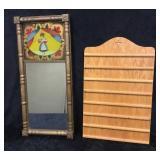 Register Board & Gold Frame Mirror Decor