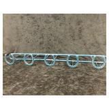 Blue Horseshoe Rack