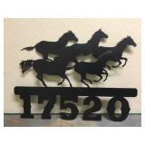 Welded Horses Address Sign