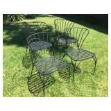 4- Metal Patio Chairs