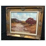 Gold Framed Oil On Canvas Painting