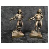 A Pair of Bronze Pirate Bookends