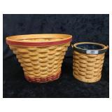 Longaberger Handmade Geranium & Gathering Baskets