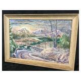Framed Snowy Watercolor