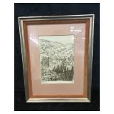 Framed The Tauber Valley An Original Etching