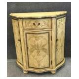 3 Door/1 Drawer Accent Cabinet With Painted Design