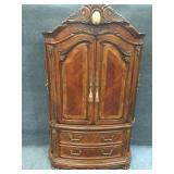Beautiful Honey Oak, Carved Cabinet/Armoire