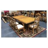 Dining Table w/ 8 Chairs & 2 leafs