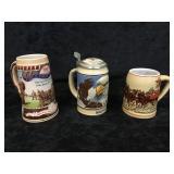 3- Stein Beer Mugs
