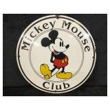 Mickey Mouse Club Metal Round Sign