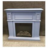 Twin Star Blue Electric Fireplace