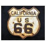 Vintage California US 66 Hwy Sign with Glass