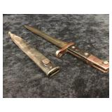 Bayonet Fighting Knife w/ Scabbard