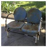 """Vintage """"Rustic Gold"""" Metal Double Glider"""