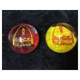 2 Red & Yellow Coca
