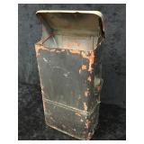 Old Gas Station Paper Towel Dispenser/ Trash Can
